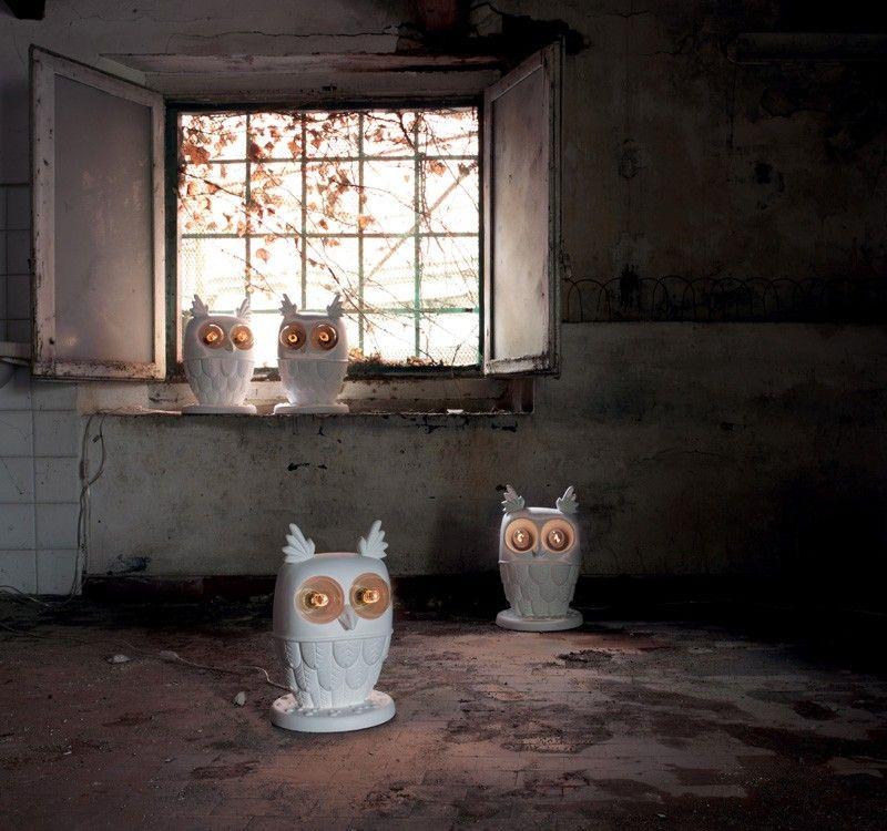 Eulenlampe Is Watching You Ti Vedo Von Matteo Ugolini Fur Karman Eulen Lampe Tischleuchte Eule