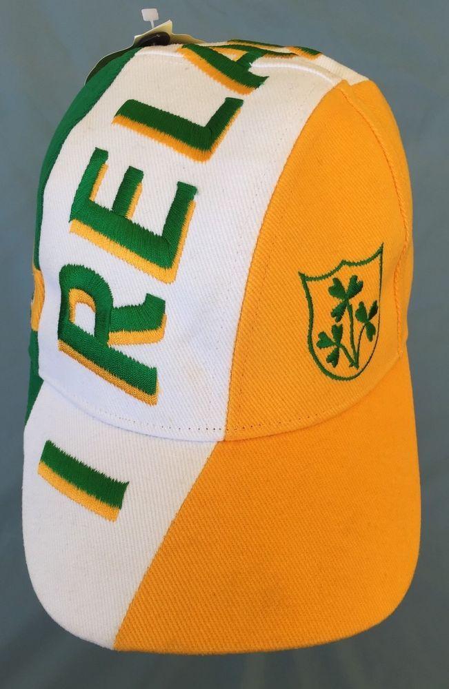 a71ad6e58c37a MENS IRELAND BASEBALL CAP TRI COLOR 3 SHAMROCK GREEN WHITE GOLD IRISH FLAG  R6019  Tradecraft  BaseballCap