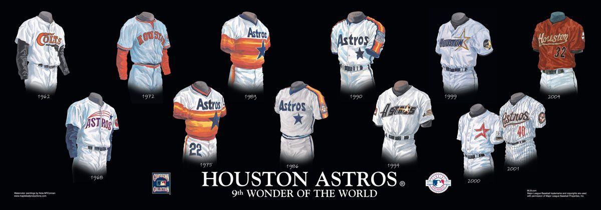 Houston Astros Uniform History Houston Astros Astros Astros Uniforms