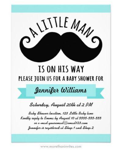 Little man boy baby shower invitation with black mustache baby little man boy baby shower invitation with black mustache filmwisefo Choice Image