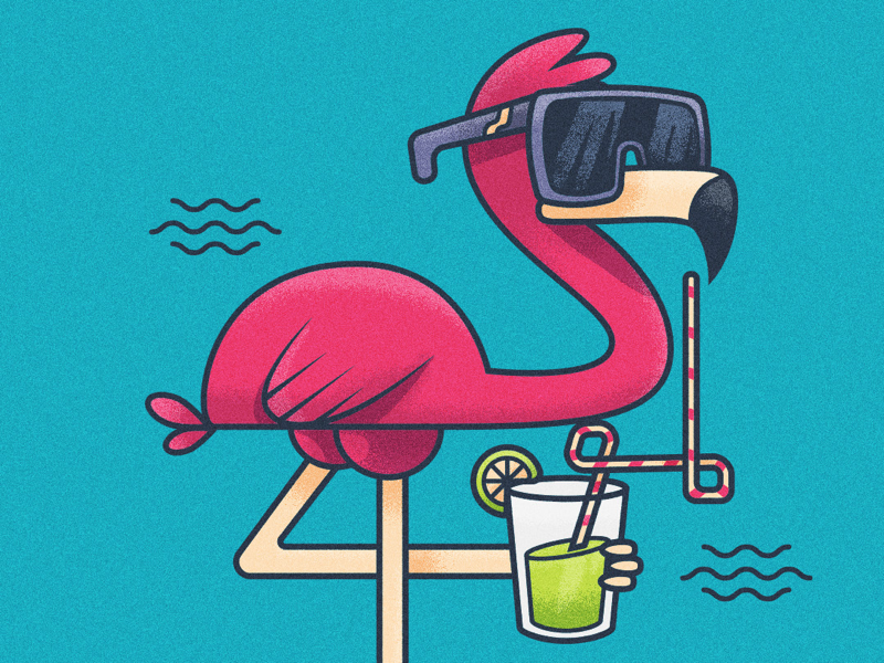 комплект картинка смешной фламинго ещё разу вязали