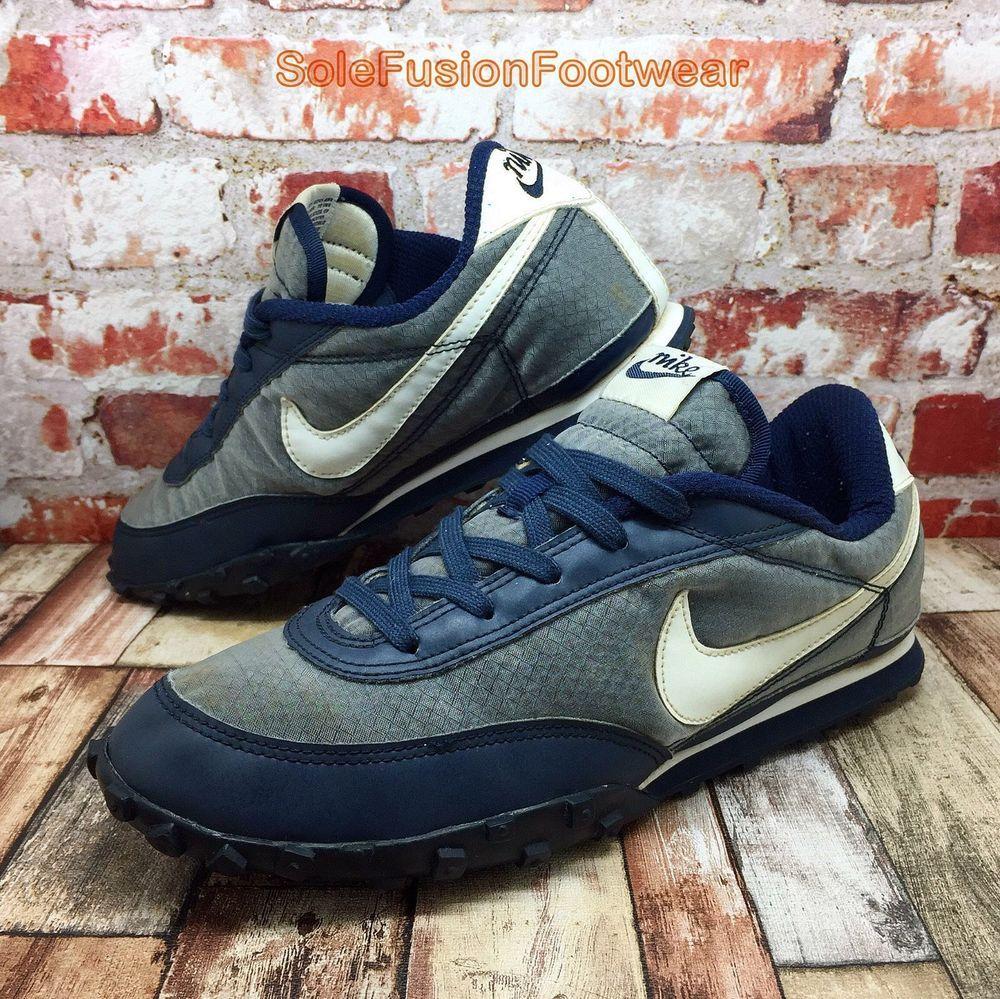 Nike Mens Waffle Racer Trainers Blue sz 8 Vintage Running Sneakers US 9 EU  42.5  
