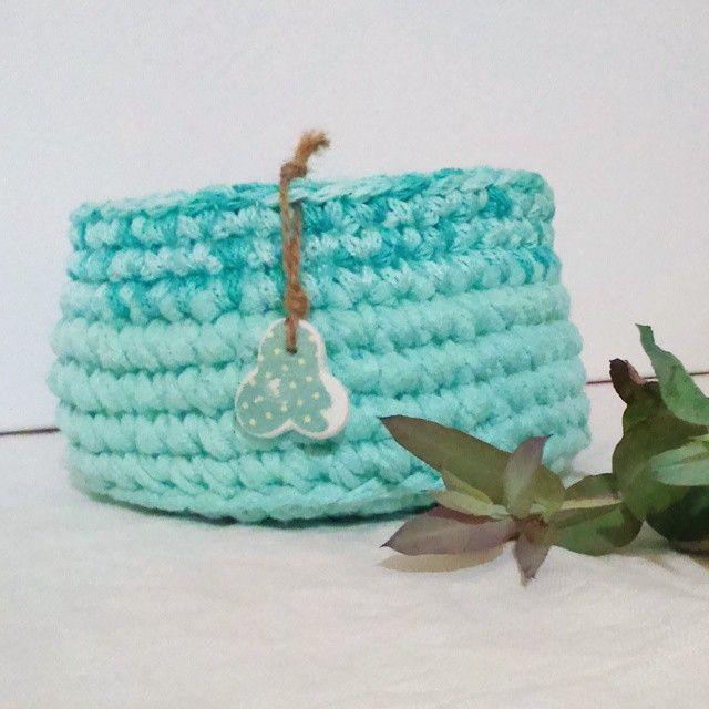 cestas de trapillo y tricotin  #trapillo #tricotin