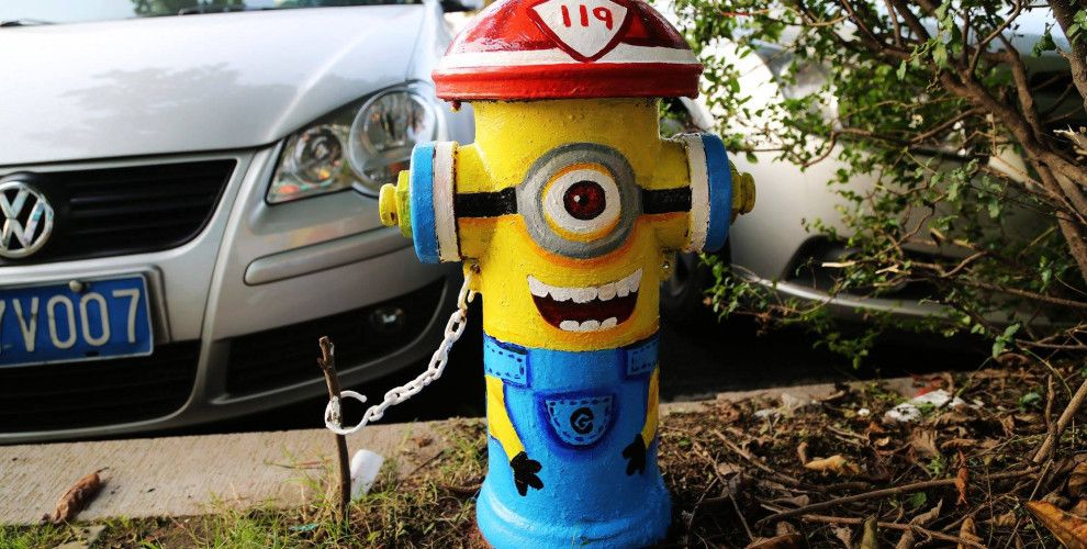 Featured Image for These fire hydrants were creatively painted to spread the message of fire safety