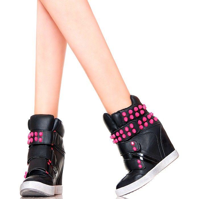 Sneakersy Czarne Na Rzepy Z Rozowymi Cwiekami Www Buu Pl Miu Miu Ballet Flats Ballet Flats Fashion