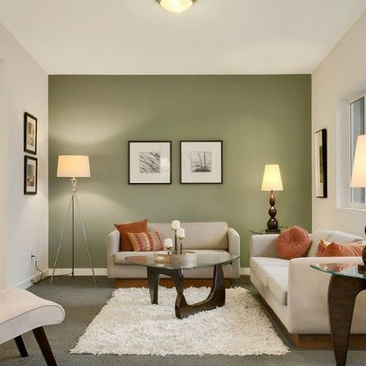 31 Modern Accent Wall Ideas For Any Room: 76 The Most Popular Green Living Room Wall Decorating