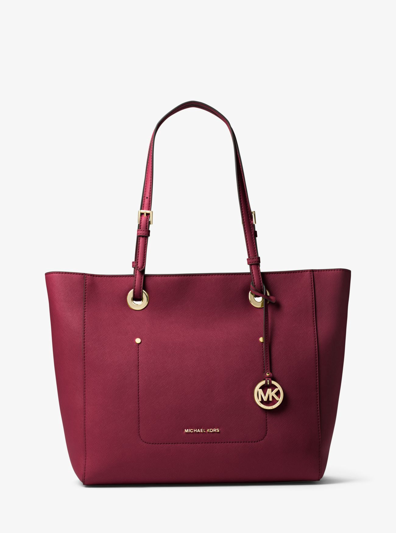 6e6ecbd783ad63 MICHAEL KORS Walsh Large Saffiano Leather Tote. #michaelkors #bags #leather  #hand bags #nylon #tote #lining #
