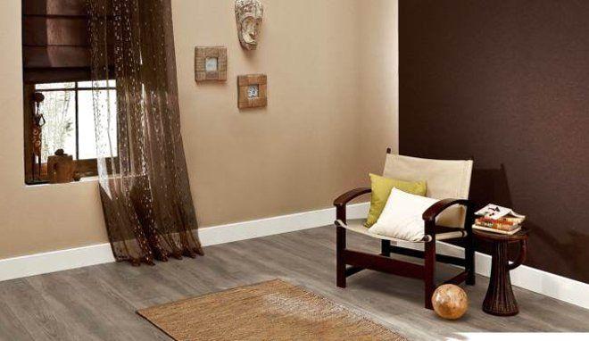 Quelle couleur peindre avec du chocolat salon chocolat - Peinture mur bicolore ...