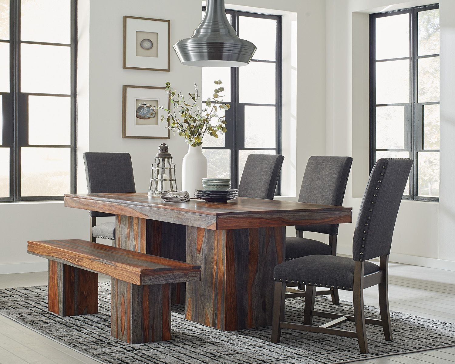 Binghamton Grey Sheesham Dining Table By Scott Living Solid Wood