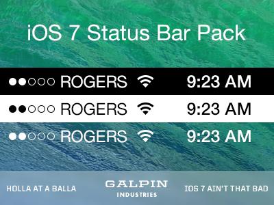 Download Ios 7 Status Bar Pack Ios 7 New Ios Ios
