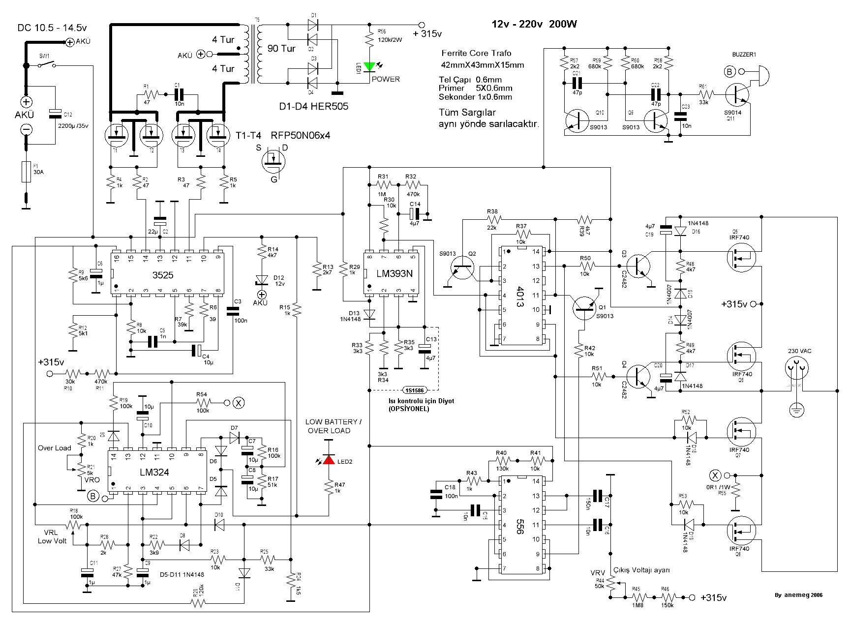 1kva Inverter Circuit Diagram Manual Luxury Ponent Sine Wave Inverter Circuit Diagram Make This 1k Circuit Diagram Circuit Projects Electronic Circuit Projects