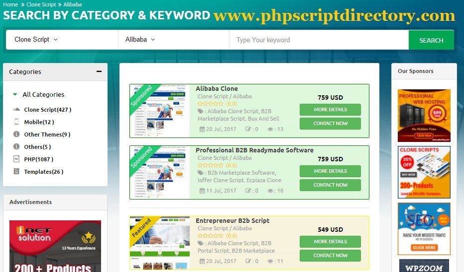 Own your Marketplace Website by our Marketplace PHP Script