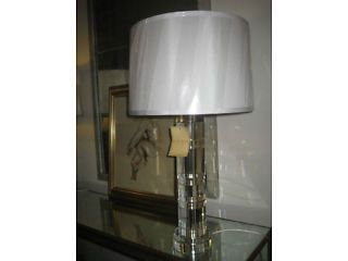 Ralph Lauren Farrah Crystal Faceted Table Lamp With Silk Lampshade