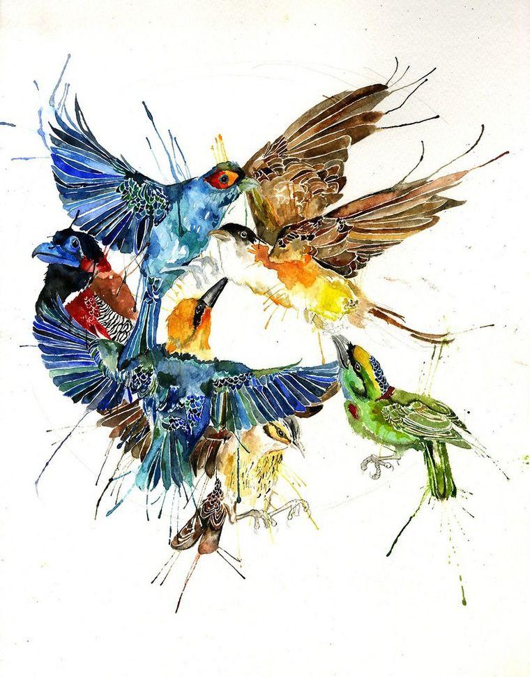 Кляксо-звери английской художницы Megan Ashford - Ярмарка Мастеров - ручная работа, handmade