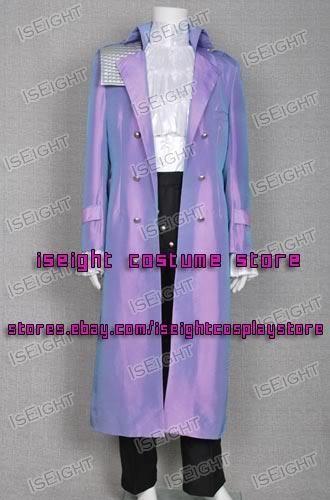 Purple Rain Cosplay Prince Rogers Nelson Costume Whole Set Coat Halloween Party