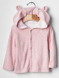 430e5fe4d Favorite reversible bear hoodie | LIKE/DIGGIN' | Baby pink clothes ...