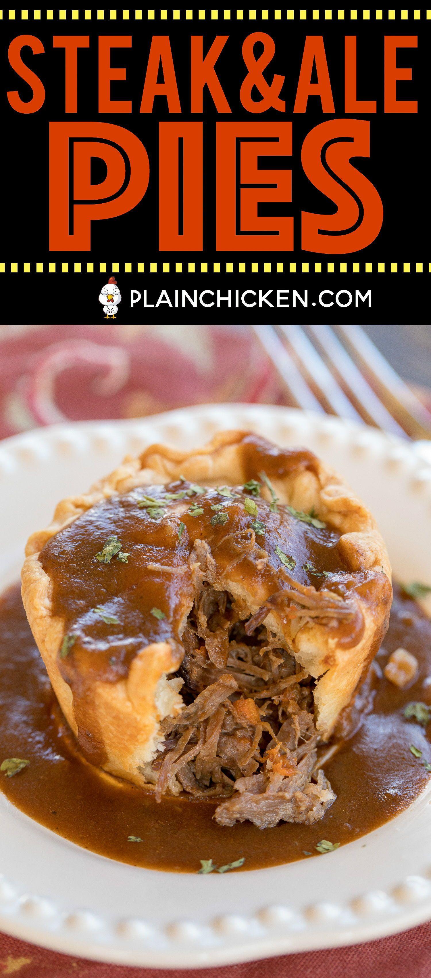 Mini Steak & Ale Pies - Guinness pot roast in pie crust ...