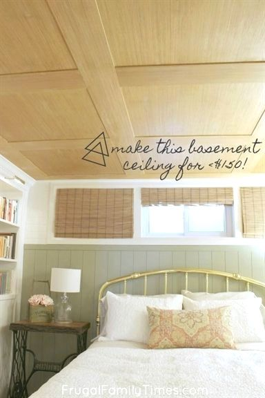 Photo of How To Make A Basement Plywood Ceiling (that Looks Like Wood Paneling!) | Frugal Family Times