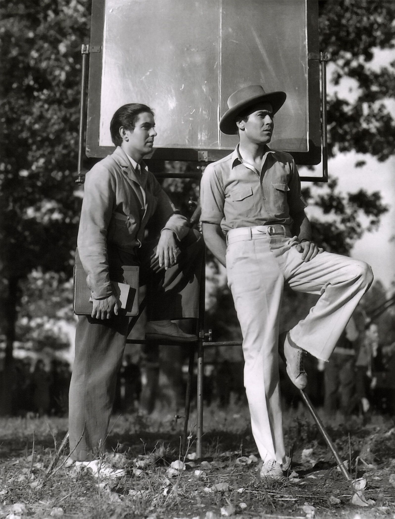 Tyrone power and henry fonda on the set of jesse james for How old was henry fonda when he died