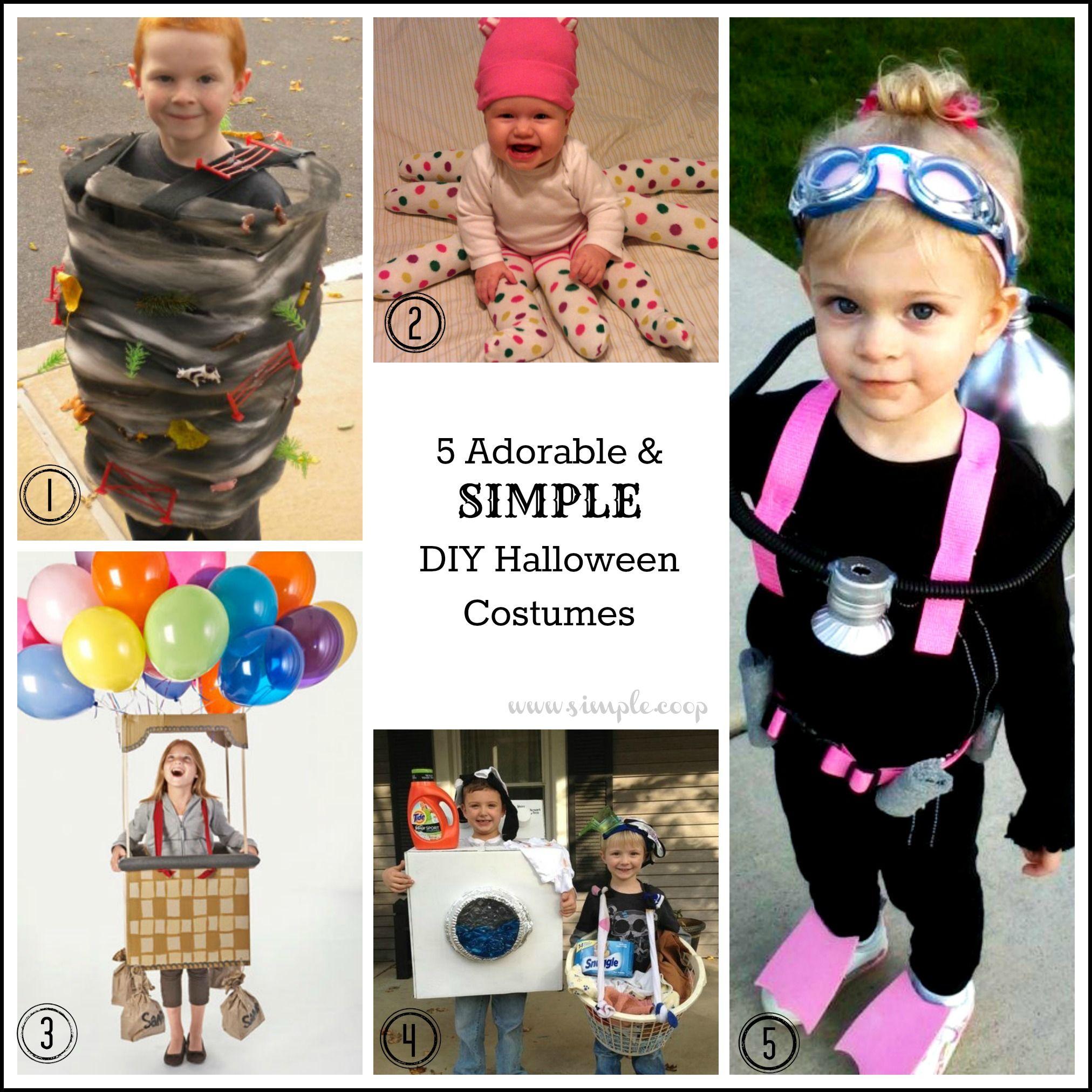 5 adorable simple diy halloween costume ideas octopus is cute - Simple Diy Halloween Costume