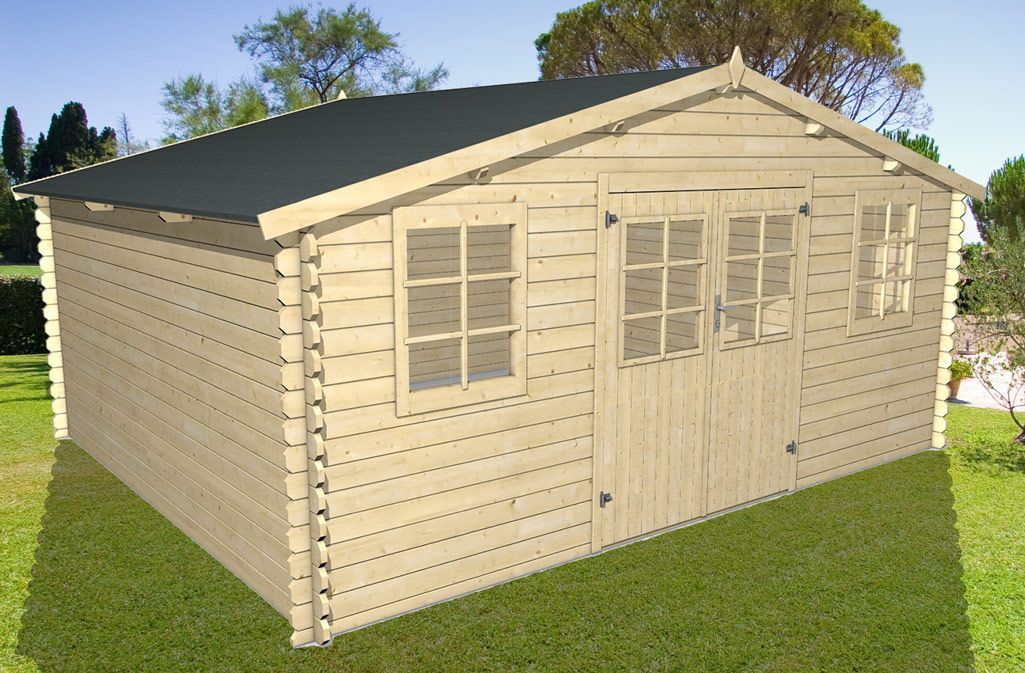 Abri de jardin THONON 20 m² | Abris de jardin, Refuges et Toiture ...