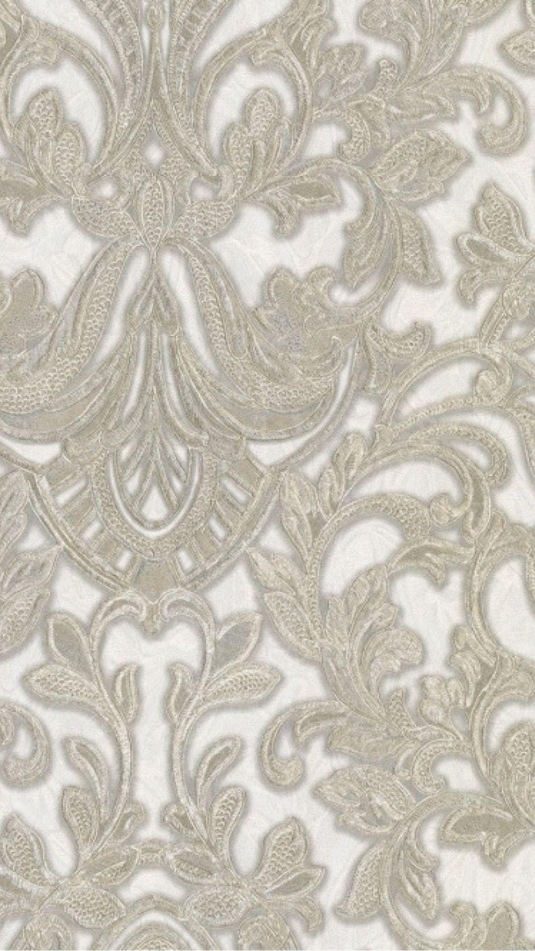 PrimaDonna Damask Wallpaper Beige Cream Gold Damask