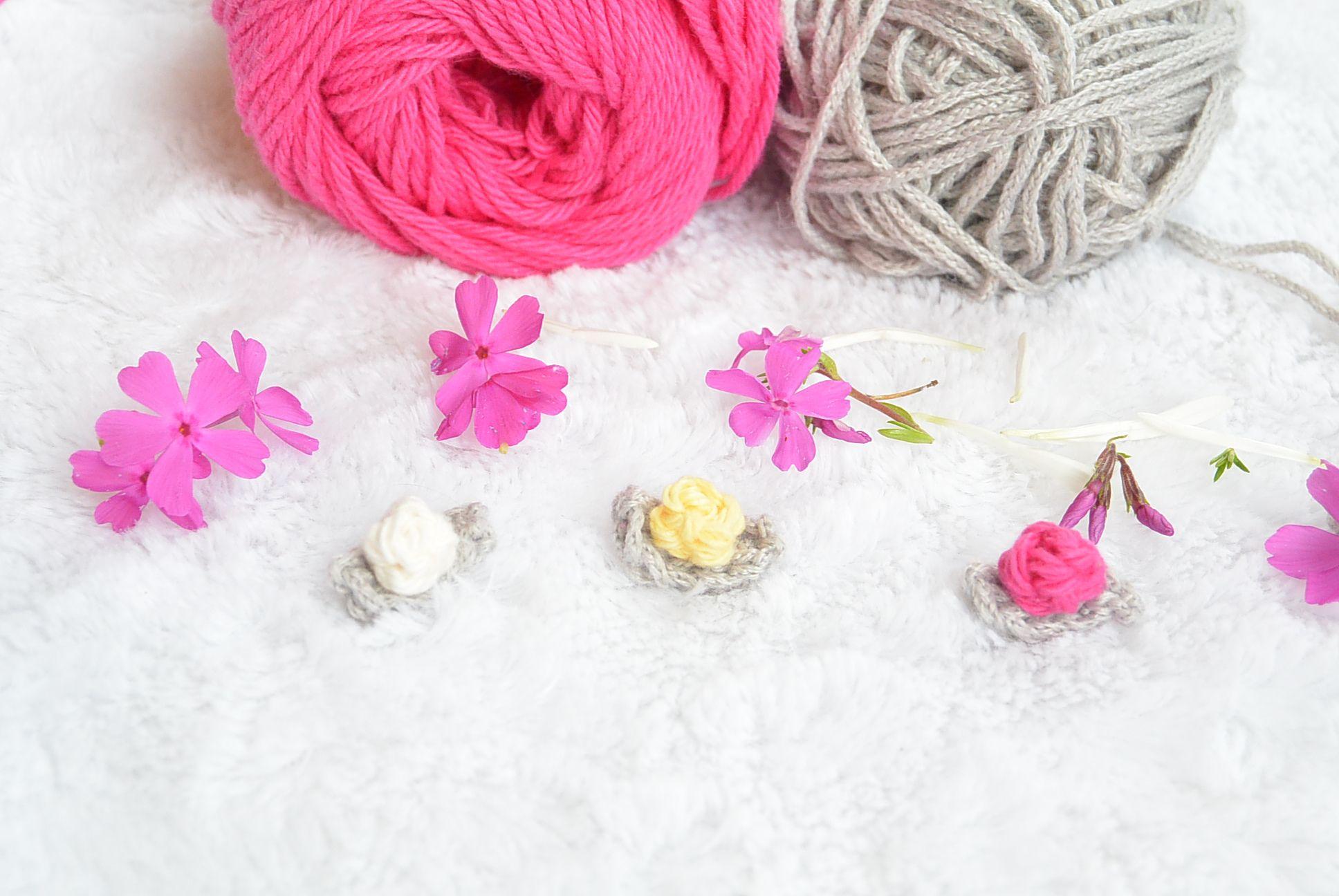 Teeny Tiny Crochet Flower Buds   Pinterest