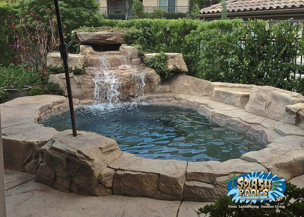Custom rock spa for small yard splash pools and for Pictures of small pools