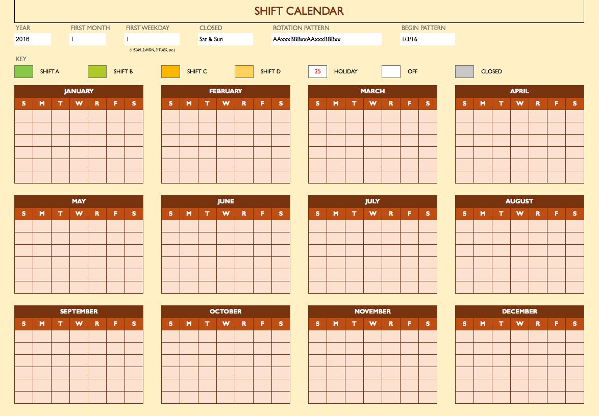 Printable Work Schedule Maker Schedule Calendar Schedule