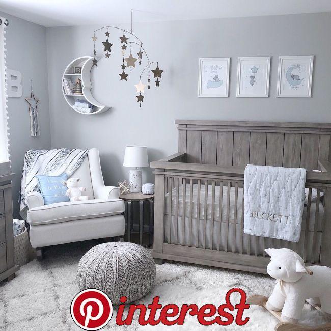 Star And Moon Nursery Baby Pinterest Boy Nurseries Room