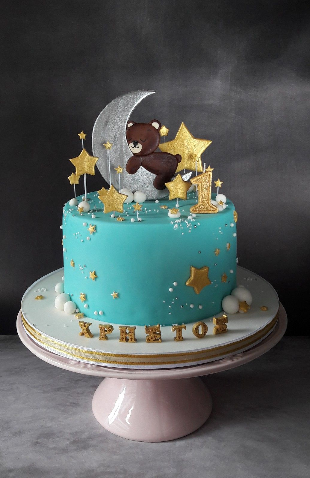 Twinkle Twinkle Little Star Cake For A First Birthday Baby