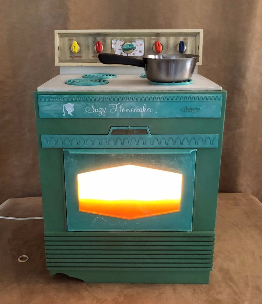 Vintage 1960\'s Suzy Homemaker Teal Stove Toy Oven Lights up teal ...