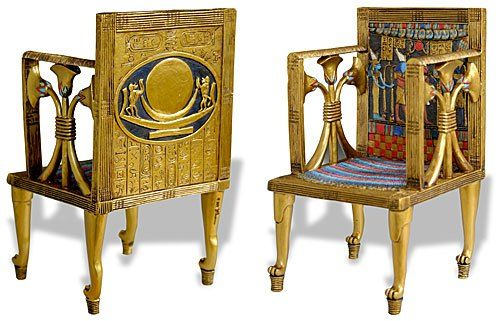 Queen Hetepheres Chair (Furniture in Ancient Egypt. Old Kingdom of Egypt, 2700 - 2200 BCE)