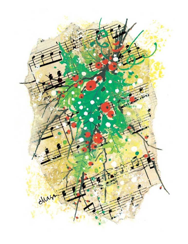Buy holly score christmas card music stationery greeting cards buy holly score christmas card music stationery greeting cards christmas cards m4hsunfo