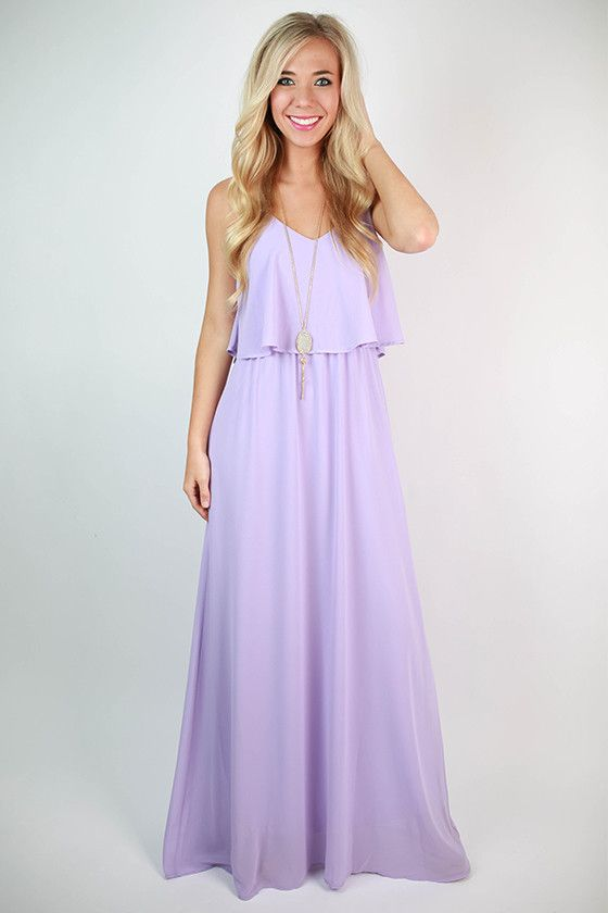 Brunch \u0026 Peonies Maxi Dress in Lavender