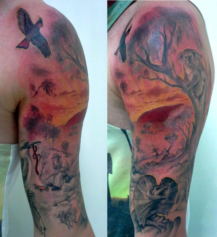 Outback Aussie Scene Tattooist Daniel Brandt Electric Expressions