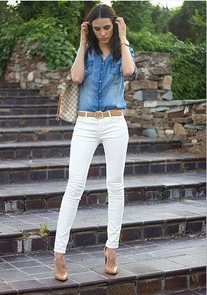 Sincere Mystiq Basic Stretch White Skinny Jeans Pants Ripped Knees Size Small Clothing, Shoes & Accessories
