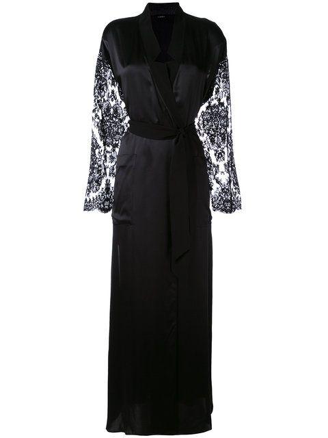 LA PERLA Lace Sleeve Robe. #laperla #cloth #robe