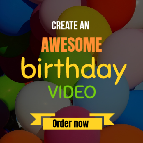 Create an awesome birthday videos in minutes. Start now