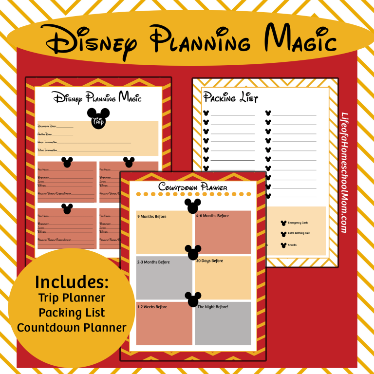 Free Printable Disney Trip Planning Kit Trips