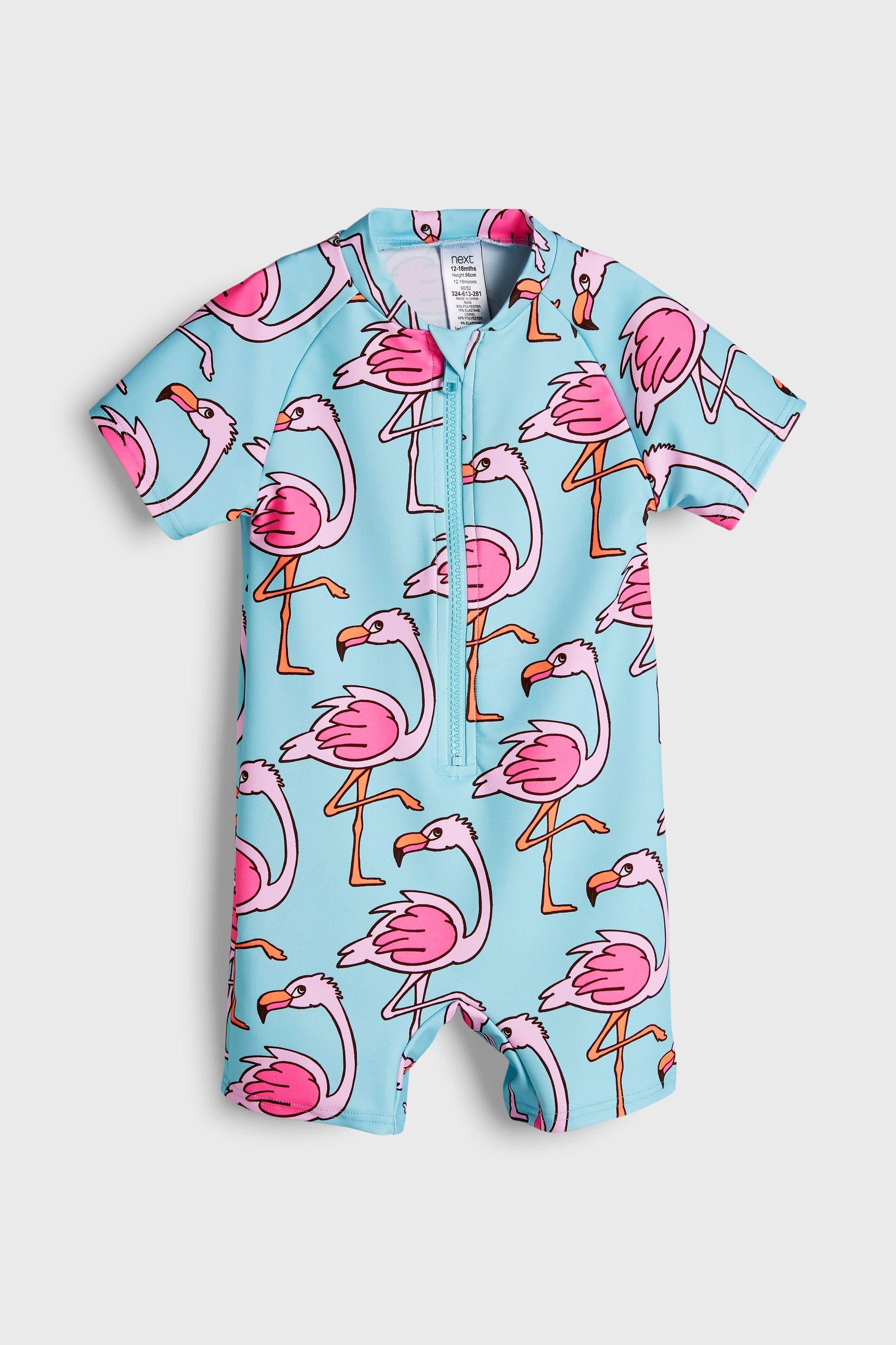 4285175d45016 Girls Next Flamingo Sunsafe Suit (3mths-6yrs) - Blue in 2019 ...