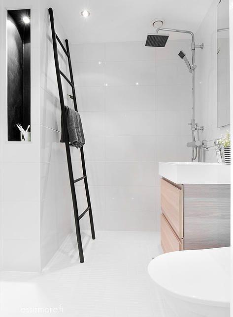 ladder om handdoeken op te hangen