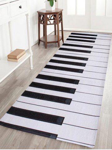 Home Floor Decor Coral Velvet Piano Keyboard Area Rug Diy