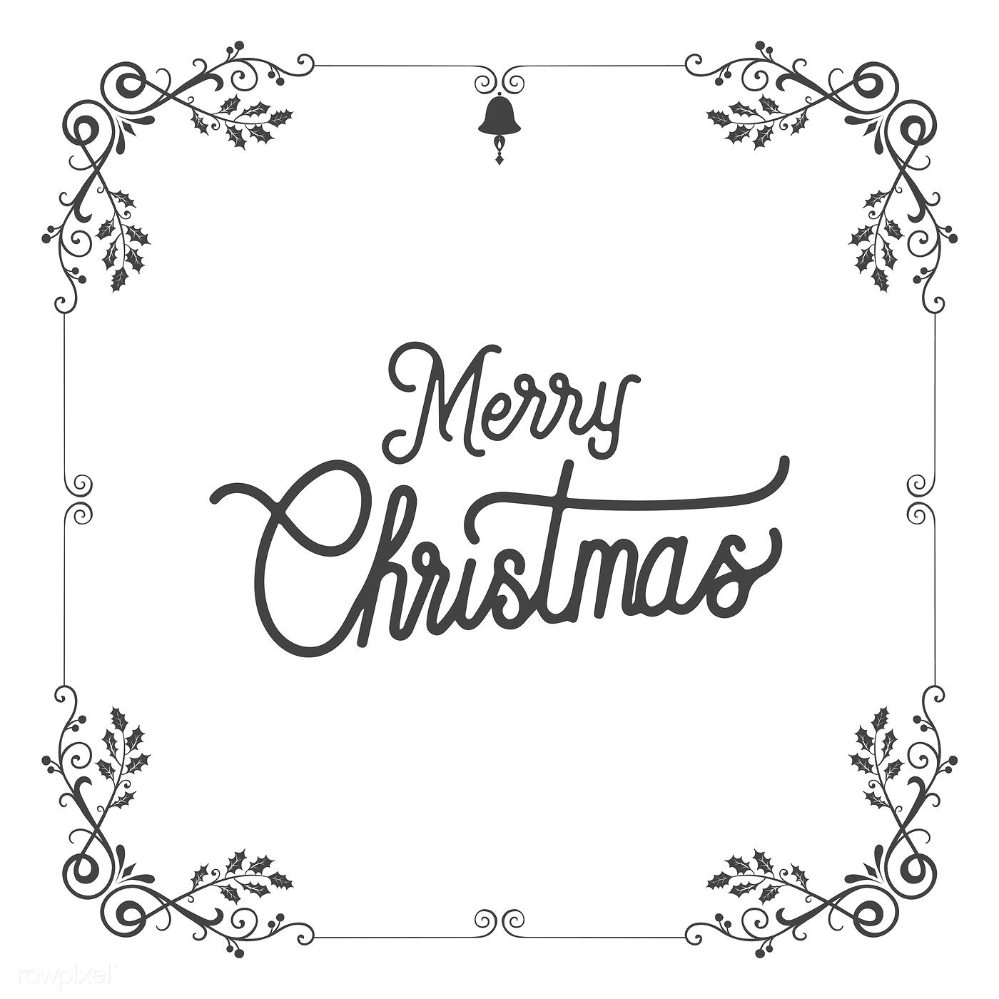 Merry Christmas badge design vector free image by