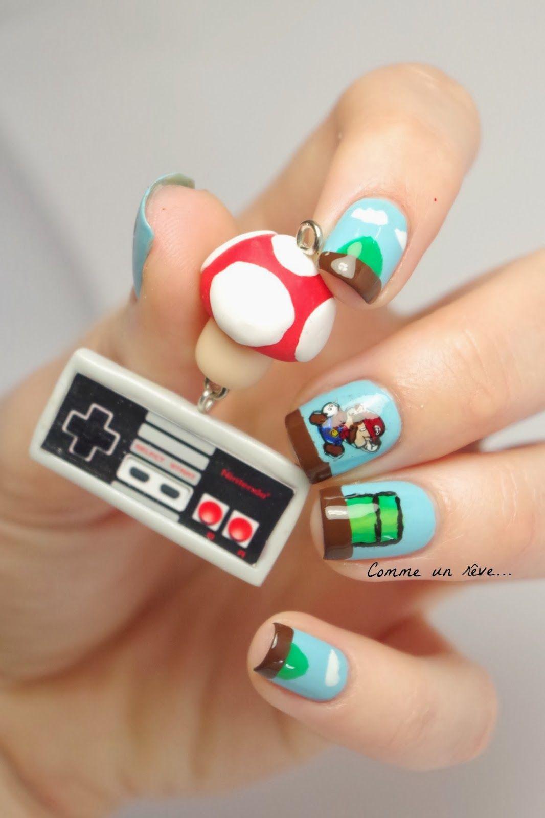Mario Nails Nintendo | nails | Pinterest | Nintendo and Ongles