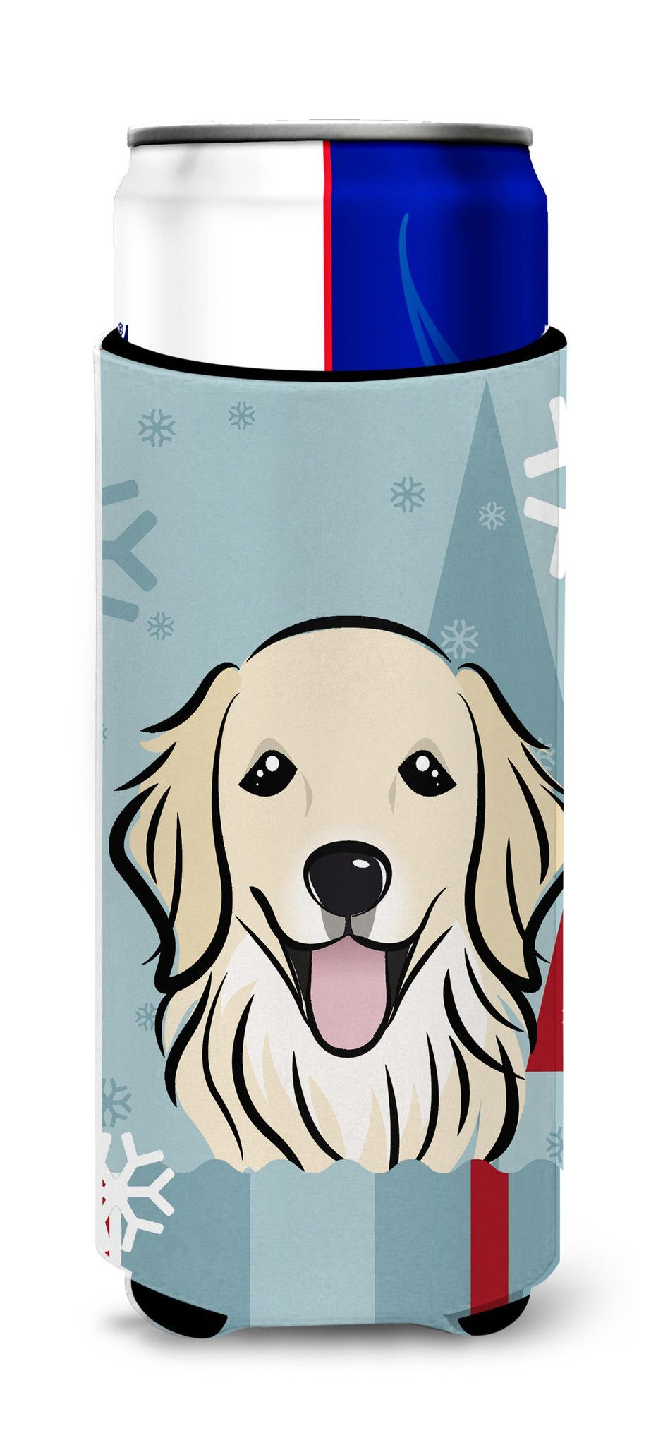 Winter Holiday Golden Retriever Ultra Beverage Insulators for slim cans BB1701MUK