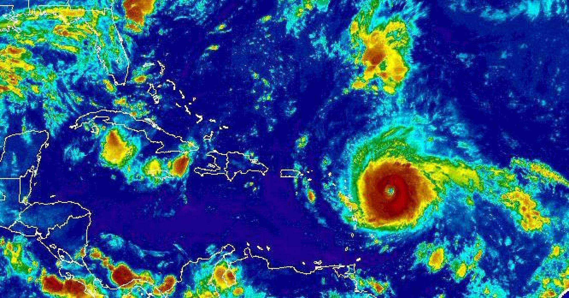 Irma Harvey Reveal Massive National Security Risks Climate Change Solutions Satellite Image Eye Of The Storm