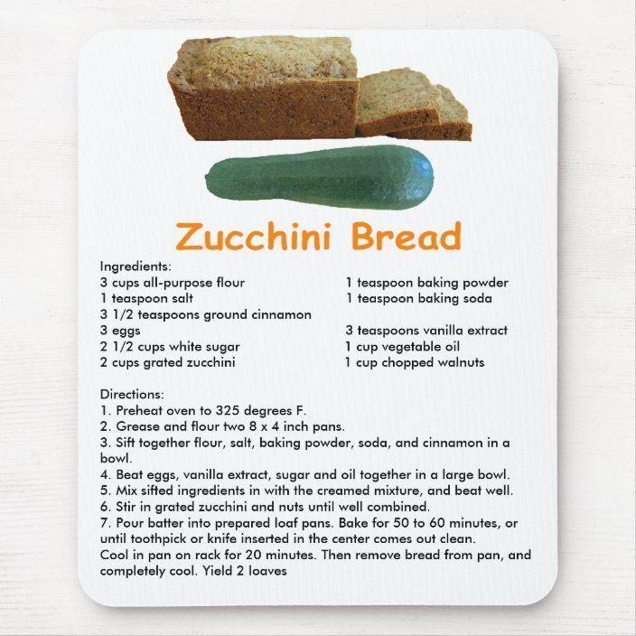 Zucchini Bread Mouse Pad