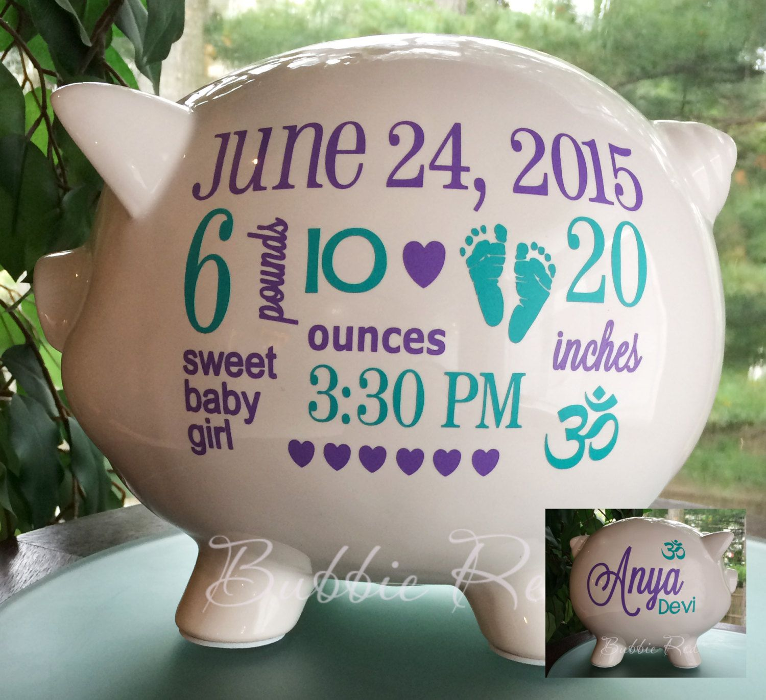 Personalized piggy bank om symbol baby om baby baby piggy bank personalized piggy bank om symbol baby om baby baby piggy bank baby negle Images