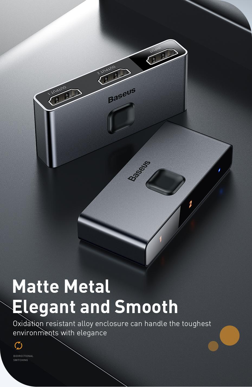 Baseus Hdmi Splitter 4k 60hz Bi Direction Hdmi Switch 1x2 2x1 Hdr Hdmi Audio Adapter For Ps4 Tv Box Hdmi Switcher Aliexpress In 2020 Audio Adapter Hdmi Hdmi Splitter